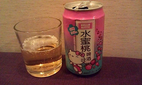 hello kitty peach beer
