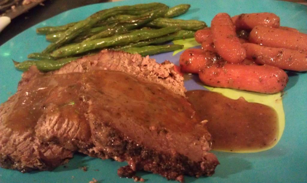 crock pot roast plate