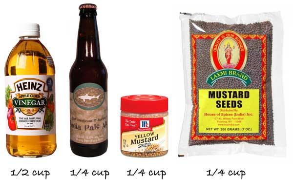 Mustard ingredients