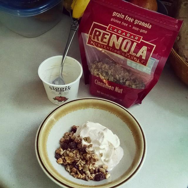 siggi's yogurt and grain free granola